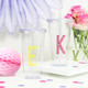 Personalised Monogram Initial Drinks Tumbler for Smoothies, Frappucinos and Juices