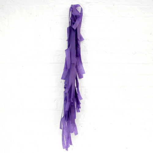 Purple tissue paper tassel tail garland for party balloons