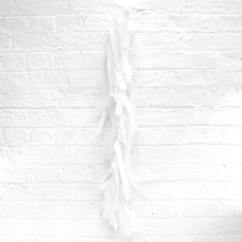 White tissue paper tassel tail garland for party balloons
