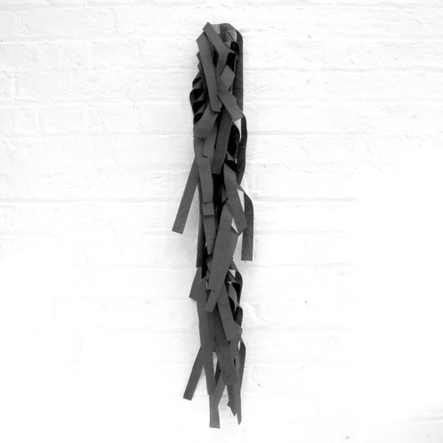 Black tissue paper tassel tail garland for party balloons