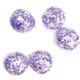 Purple and silver confetti balloons