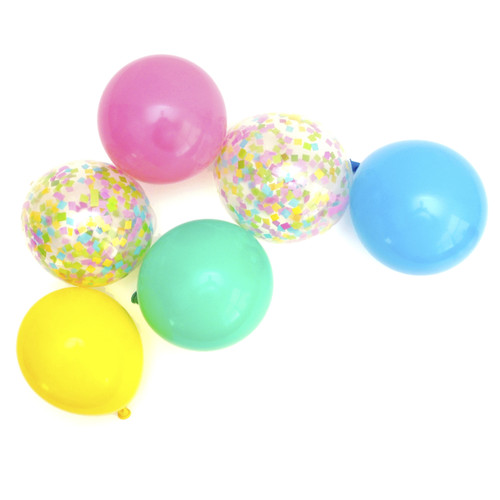 Candy Pop Confetti Party Balloons