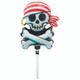 Mini Jolly Roger Balloon Decoration for Pirate Birthday Party