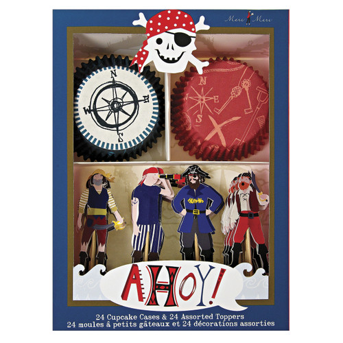 Pirate Party Cupcake Kit for Childrens Birthdays