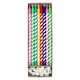 Rainbow birthday cake candles for parties