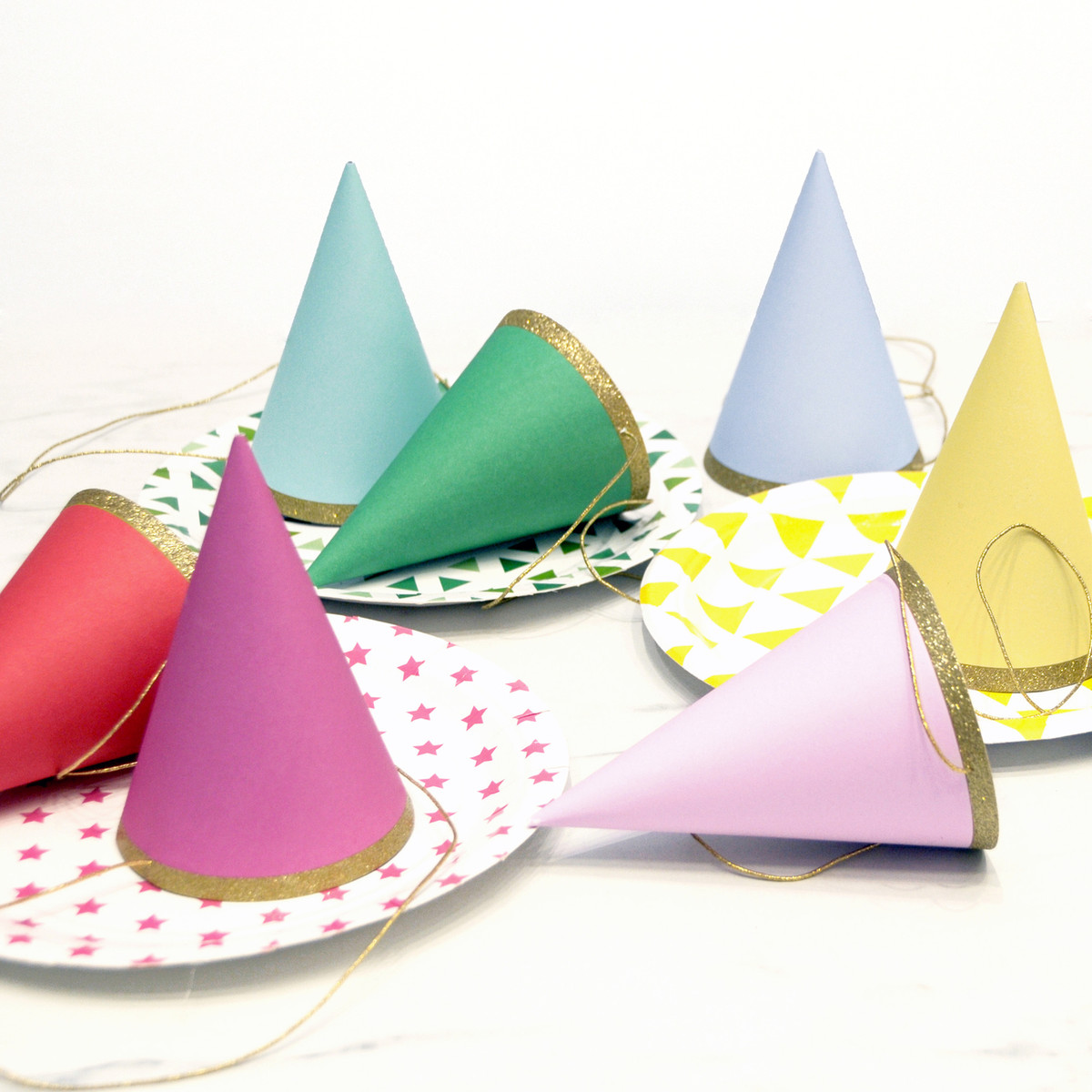 Rainbow Birthday Party Hats For Childrens Parties