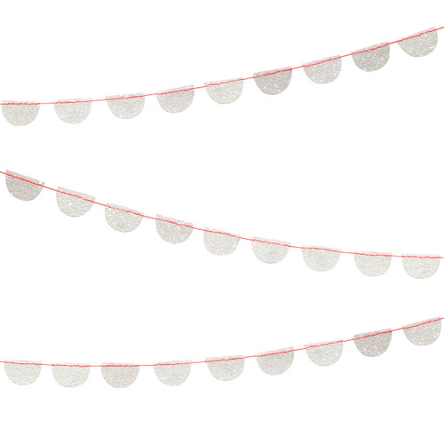 Stylish iridescent glitter party garland for baby showers, birthday parties and home decor
