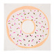 Doughnut party paper napkins for children's birthdays and celebrations