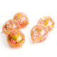 Pink, yellow and orange sunshine bright confetti balloons
