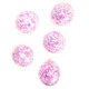 Pink confetti party balloons