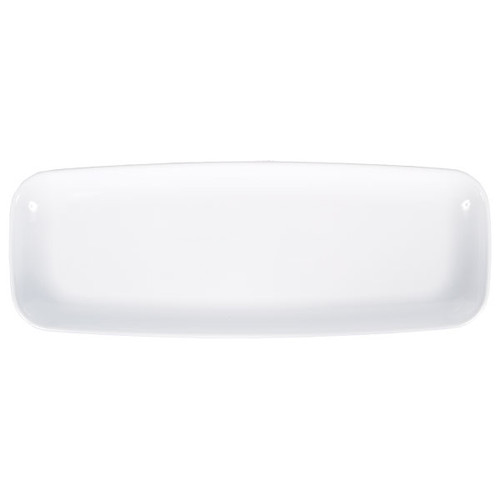White Rectangle Long Platter for Serving Cupcakes, Food and Other Snacks