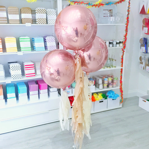 Rose Gold Orb Balloon for weddings, hen parties, birthdays and baby showers