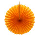 Orange Tissue Paper Fan Decoration for Birthday Parties, Weddings, Baby Showers and Hen Dos