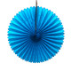 Turquoise Tissue Paper Fan Decoration for Birthday Parties, Weddings, Baby Showers and Hen Dos