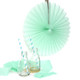 Mint Small Tissue Paper Fan Decoration for Birthday Parties, Weddings, Baby Showers and Hen Dos