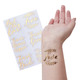 Rose Gold Wedding Temporary Tattoos for your Bride Tribe