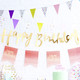 Gold Happy Birthday Script Bunting Decoration