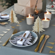 Grey felt Christmas tree napkin holder for your home or dining table