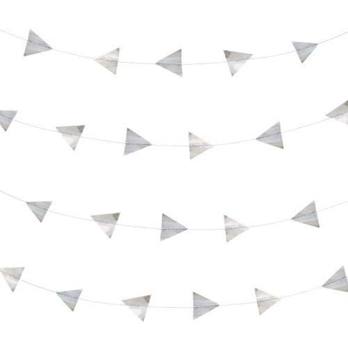 Silver foil triangle garland decoration