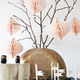 Ivory drop shape honeycomb ornaments for Christmas, baby showers and home decor