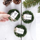 Christmas wreath place cards to create a beautiful place setting