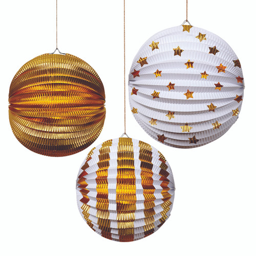 Gold Foil Lantern Decorations