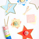 Star paper party tableware in a rainbow of colours