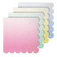 Ombre pastel coloured gold foiled party napkins