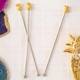 Gold Pineapple Drink Stirrers for cocktails, Christmas guests and parties