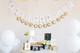 Custom gold foil wedding bunting decoration in gold