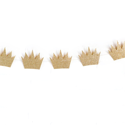 Glitter Princess Crown Party Bunting