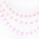Mini pastel pink party bunting for birthday parties, baby showers and hen dos.