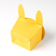 Yellow bunny rabbit gift box for Easter, children's birthday parties or presents
