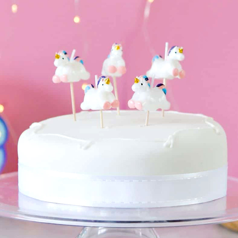 Unicorn Birthday Cake Candles For Childrens Parties Princess Birthdays And Hen Dos
