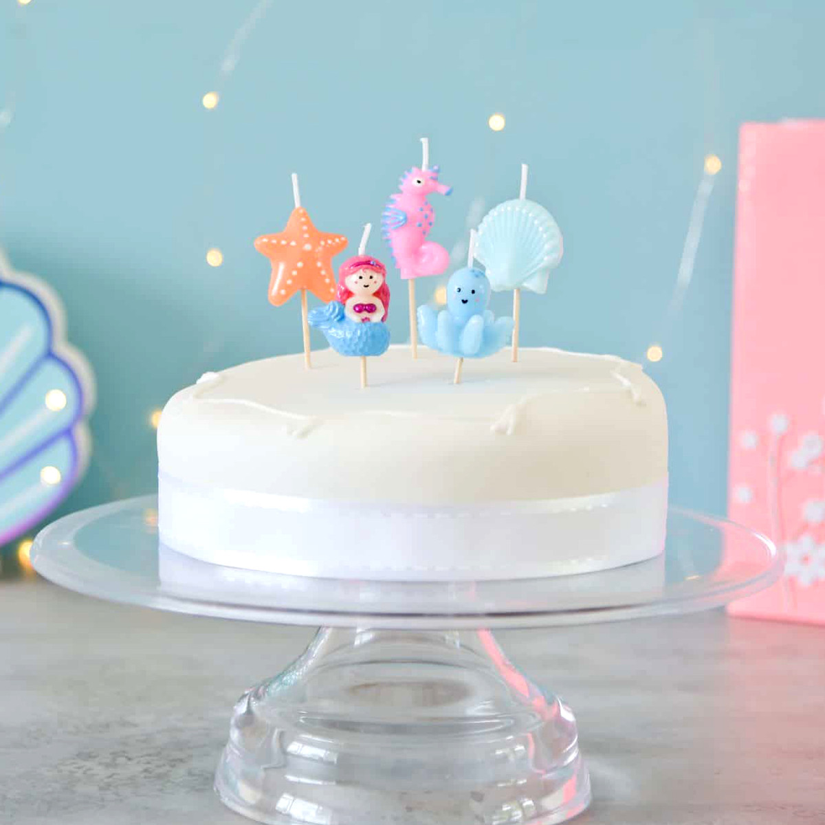 MAKE A WISH PASTEL BIRTHDAY CAKE CANDLE PACK