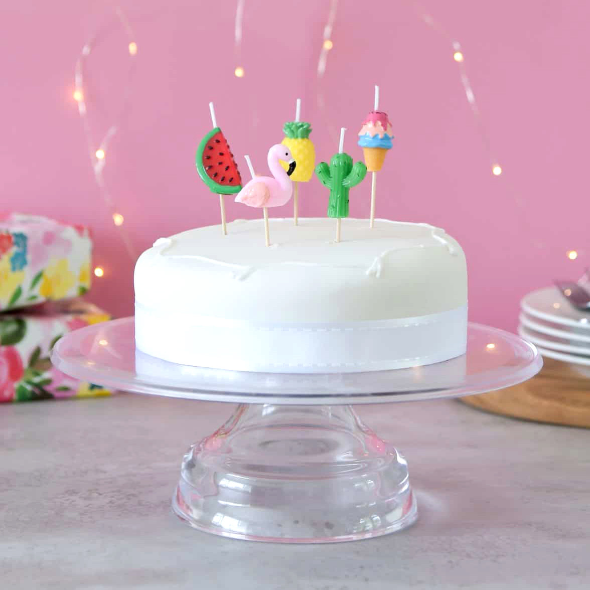 Tropical Themed Birthday Cake Candle For Summer Parties Hen Dos And Celebrations
