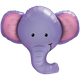 Elephant party balloon for jungle themed birthdays or circus parties