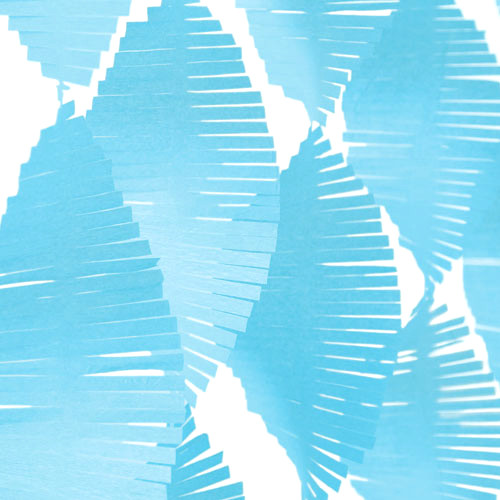 Pastel Blue Fringe Garland Streamer Party Decoration for kids birthday parties, weddings, photo booth backdrops and baby showers