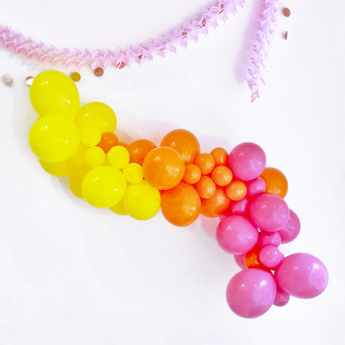 Summer Bright Balloon Garland Decoration Kit to create your very own organic balloon garland arch for your party