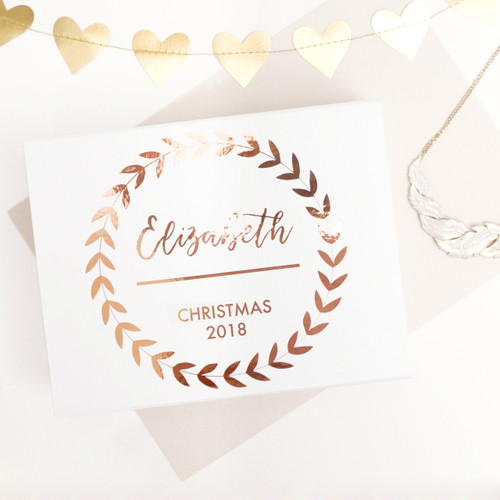 Luxury personalised Christmas gift box to create a present for your friend, loved one or family member.