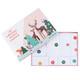 Paper forest animal Christmas advent calendar decoration