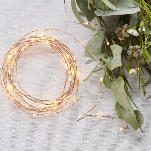 Rose Gold String Fairy Lights