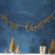 Gold Glittery Merry Christmas Bunting
