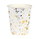 Gold Splatter Cups