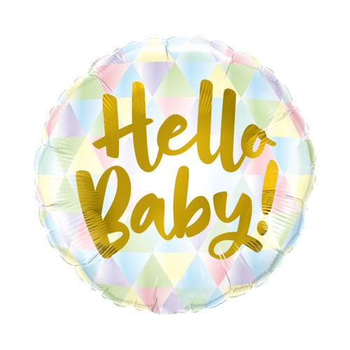 Pastel Hello Baby Helium Foil Balloon Party Decoration for Baby Shower Venue Decor