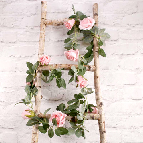 Silk Pink Rose Garland Party Decoration for Hen Party, Baby Shower or Wedding Venue Decor