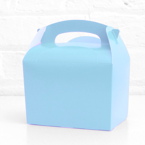Light Blue Treat Box Party Accessory for Wedding, Hen Party or Baby Shower Favours and Party Bags
