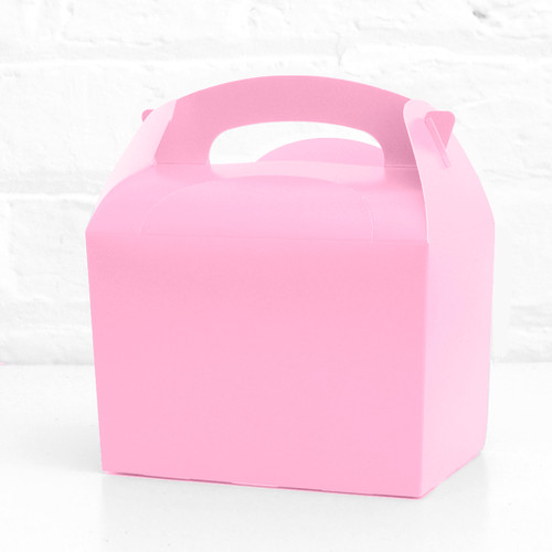 Light Pink Treat Box Party Accessory for Wedding, Hen Party or Baby Shower Favours and Party Bags
