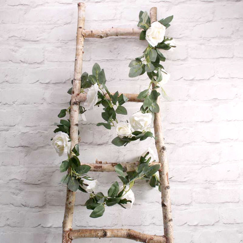 Silk Cream Rose Garland Party Decoration for Hen Party, Baby Shower or Wedding Venue Decor