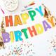 Rainbow Happy Birthday Garland for Colourful Birthday Venue Decor